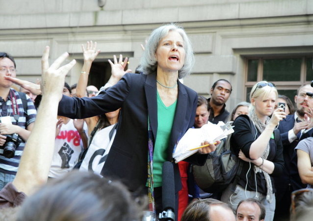 2012 Green Party presidential nominee Dr. Jill Stein speaking at Occupy Wall Street in 2011