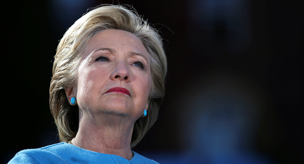 US Democratic presidential nominee Hillary Clinton attends a campaign rally at Alumni Hall Courtyard, Saint Anselm College in Manchester, New Hampshire US, October 24, 2016.