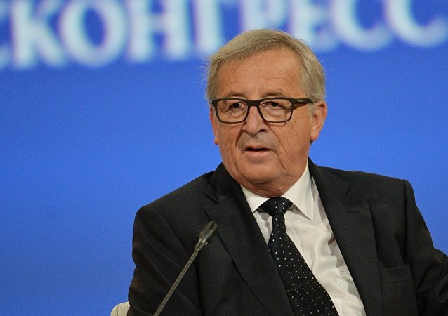 President of the European Commission Jean-Claude Juncker at the opening ceremony of the St. Petersburg International Economic Forum.