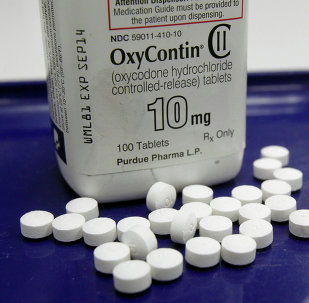 OxyContin pills are arranged for a photo at a pharmacy in Montpelier, Vt.