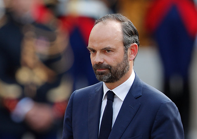 Newly-appointed French Prime Minister Edouard Philippe attends a handover ceremony at the Hotel Matignon, in Paris, France, May 15, 2017