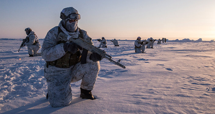 Drill of special ops unit of Chechen Republic near North Pole