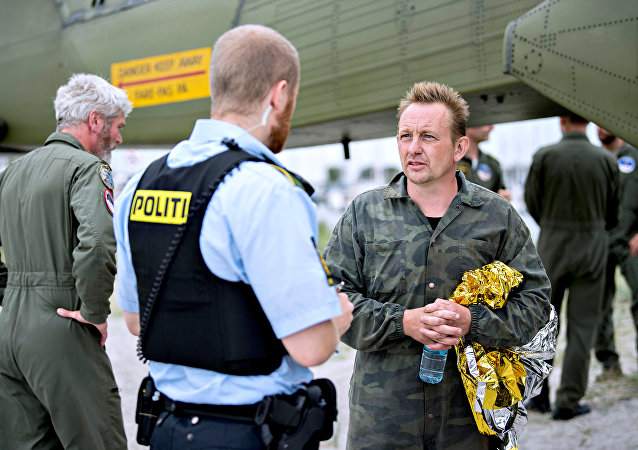 Danish submarine owner and inventor Peter Madsen lands with the help of the Danish defence in Dragor Harbor south of Copenhagen, Denmark August 11, 2017.