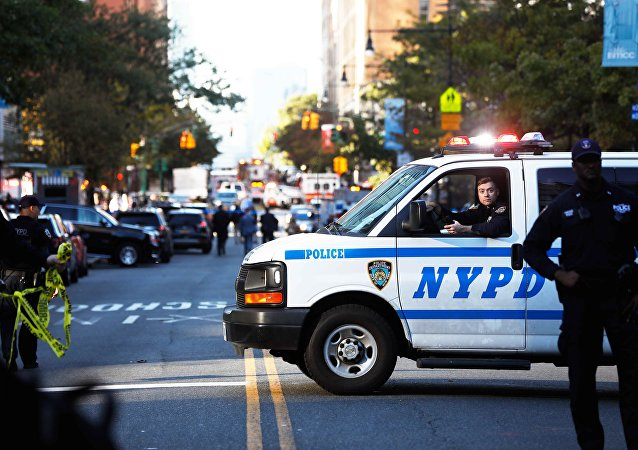 Police block off the street after a shooting incident in New York City, U.S. October 31, 2017.