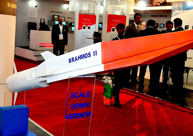 The Indo-Russian BrahMos II hypersonic cruise missile (pictured here at Defexpo 2014) is the export variant of the Russian 3M22 Zircon missile
