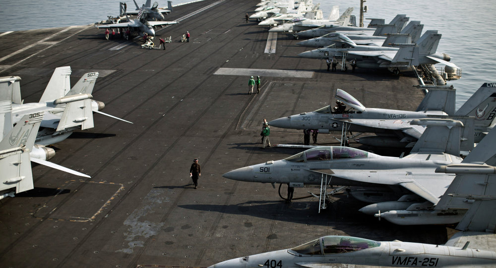 Flight deck of the USS Theodore Roosevelt