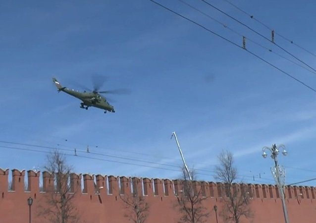 Mi35MS takes off from the Kremlin SITE